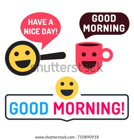 Good Morning Have Nice Day Badge Stock Vector Royalty Free