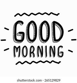 Good morning inscription
