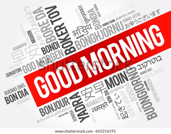 Good Morning Many Languages Multilingual Word Backgrounds