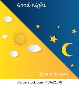 Good morning Good night day sleeping awakening