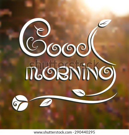 Good Morning Romantic Poster Text On Stock Vector Royalty Free