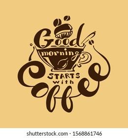Good morning start with coffee, coffee bean