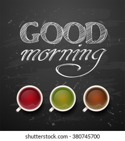 Good Morning With Black Tea Images Stock Photos Vectors
