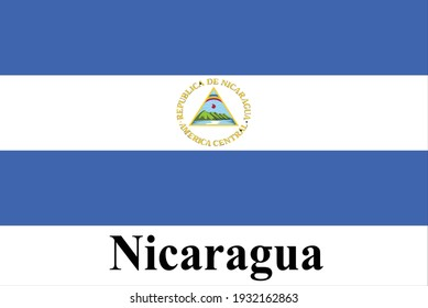 The good national flag of Nicaragua is high detailed