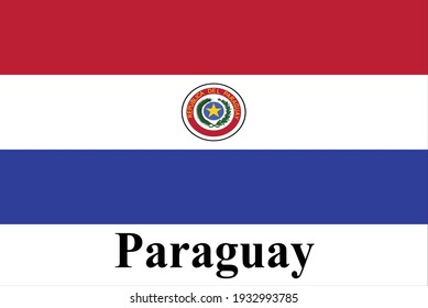 The good national flag of Paraguay is high detailed