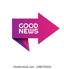 good news sign, emblem, label, badge,sticker. good news paper origami speech bubble. good news tag. bestseller banner. Designed for your web site design, logo, app, UI - Vektor