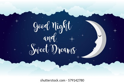 good night illustration vector design