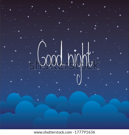Good Night Letter Stock Vector Royalty Free 177791636 Shutterstock