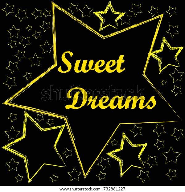 Good Night Sweet Dreams Big Yellow Stock Vector Royalty