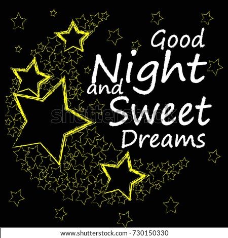 Good Night Sweet Dreams Moon Made Stockvector Rechtenvrij