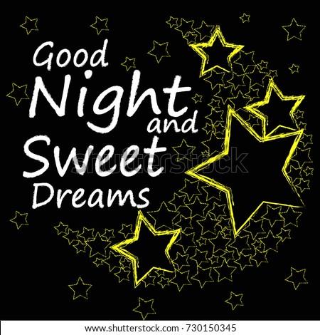 Good Night Sweet Dreams Moon Made Stock Vector Royalty Free