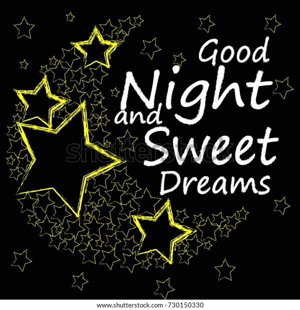 Good Night Sweet Dreams Moon Made Stock Vector (Royalty Free