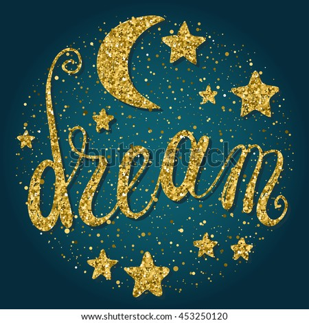Good Night Sweet Dreams Theme Background Stock Vector Royalty Free