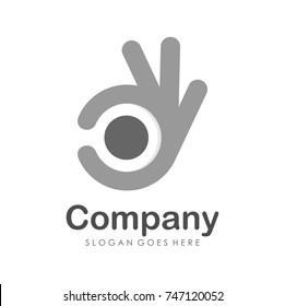 Good and OK gesture logo design template