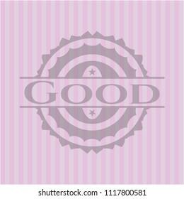 Good retro pink emblem