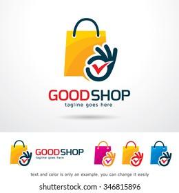 Good Shop Logo Template Design Vector