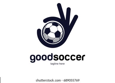 Good Soccer Logo Template Design Vector, Emblem, Design Concept, Creative Symbol, Icon