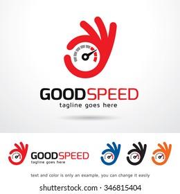 Good Speed Logo Template Design Vector