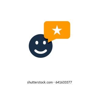 Good Testimonial Icon Logo Design Element