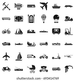 Good transport icons set. Simple style of 36 good transport vector icons for web isolated on white background