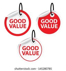 Good Value label. Vector.