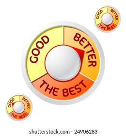 Good>Better>The Best emblem