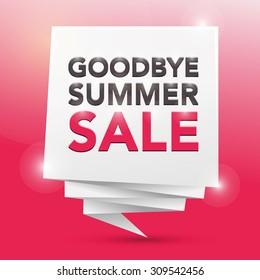 GOODBYE SUMMER SALES, poster design element