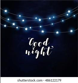 Goodnight poster vector
