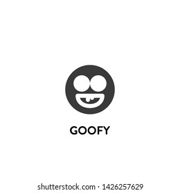 goofy icon vector. goofy vector graphic illustration