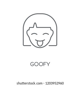 Goofy linear icon. Goofy concept stroke symbol design. Thin graphic elements vector illustration, outline pattern on a white background, eps 10.