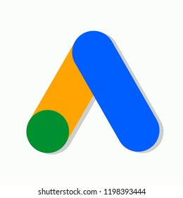 Google Ads logo. Web design. Vector illustration. EPS 10.