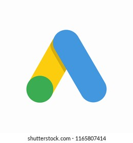 Google Ads. Web icon, symbol, element. Vector illustration. EPS 10