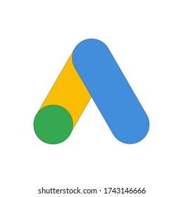 Google AdWords app icon. Google Ads logo design.Google adwords vector illustration