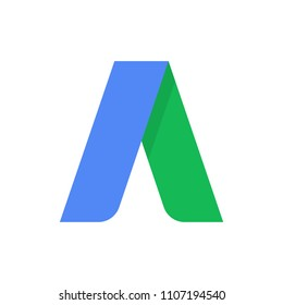 Google adwords logo flat icon, symbol, web. Vector illustration. EPS 10