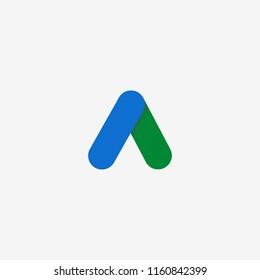 Google adwords logo flat icon, symbol, web. Vector illustration. EPS 10.