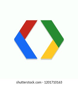 Google ExoPlayer icon. Android icon. Vector illustration. EPS 10.