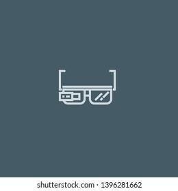 Google Glasses vector icon. Google Glasses concept stroke symbol design. Thin graphic elements vector illustration, outline pattern for your web site design, logo, UI. EPS 10.