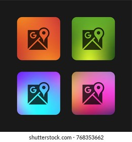 Google Maps four color gradient app icon design