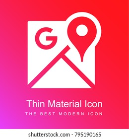 Google Maps red and pink gradient material white icon minimal design
