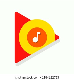 Google music icon. Vector illustration. EPS 10.