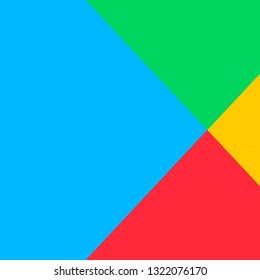 Google play abstract colorful background. Vector illustration.