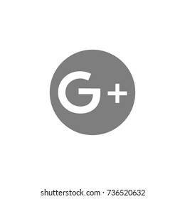 Google Plus icons on white background