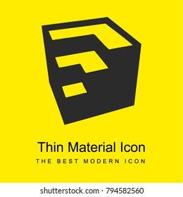 Google sketchup logotype bright yellow material minimal icon or logo design