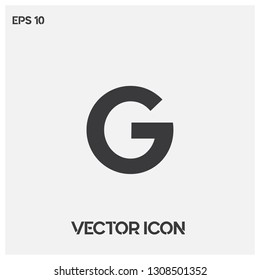 Google vector logo.Modern typographic G letter icon vector. Premium quality.
