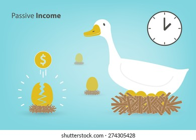 the goose with the golden eggs (Investment concept in eps10 format)