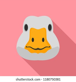 Goose head icon. Flat illustration of goose head vector icon for web design