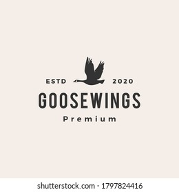 goose hipster vintage logo vector icon illustration