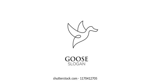 goose line logo icon designs