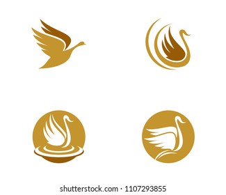 Goose Logo Template illustration isolated sign symbol