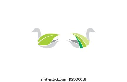 goose swan leaf eco solution logo